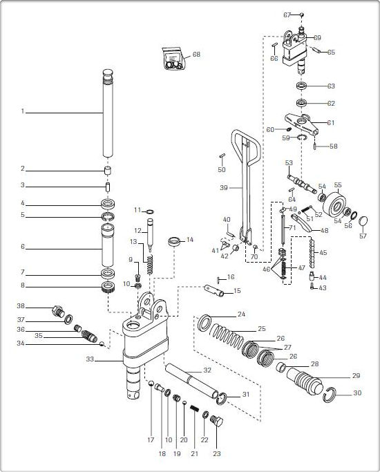crown pallet jack parts diagram